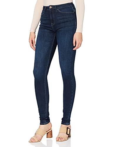 ONLY Damen Onlpaola Hw Dnm Azgz878 Noos Skinny Jeans, Blau (Dark Blue Denim), M 30L EU