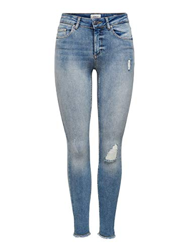 ONLY Female Skinny Fit Jeans ONLBlush Knöchel- M30Light Blue Denim