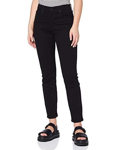 Levi's Damen 724 High Rise Straight Jeans, Black Sheep, 29W / 30L