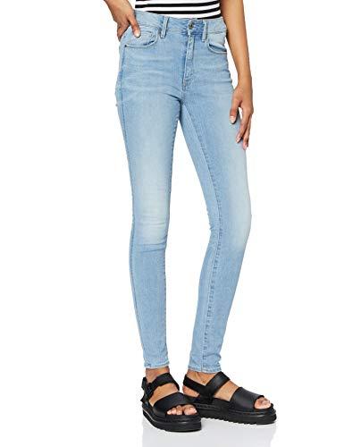G-STAR RAW Damen Jeans 3301 High Waist Skinny, Blau, 29W/32L