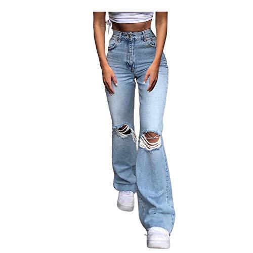Y2K Jeans Baggy Boyfriend Jeanshosen für Damen, Jeans Damen Boyfriend High Waist Jeanshose Locker Lang Boyfriend Jeans...